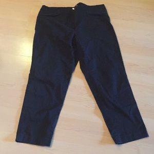 JJill cotton stretch tapered leg pants